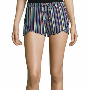 Arizona Printed Soft Shorts Juniors Size L New With Tags Msrp $30.00