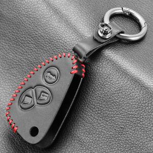Leather Car Key Cover Case 3-Button for Alfa Romeo Giulietta MiTo 147