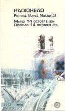 RARE / TICKET BILLET DE CONCERT - RADIOHEAD : LIVE IN BELGIUM BELGIQUE 1998