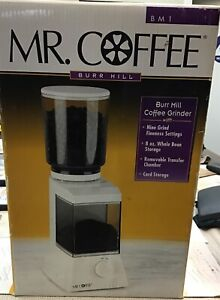 Mr. Coffee Burr Mill Grinder Model BM1 Gently Used Nice (b89)