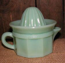 Juicer Measure Cup Jadeite Green 2 piece Reproduction Depression Glass #506J