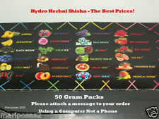 150g HYDRO NATURAL HERBAL SHISHA U CHOOSE FLAVORS