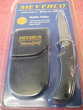 F4 Meyerco Blackie Collins Hunter folder folding hunting knife rubber handle