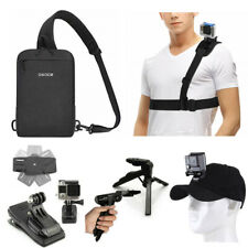 Accessories kit Camera bag Hat Chest Strap mini tripod Clip for Sport Action Cam