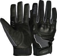 Weise Airflow Plus Black Gun Leather Mesh Sport Motorcycle Gloves RRP £34.99!