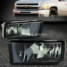 FOR 07-15 CHEVY SILVERADO GMC SIERRA SMOKED LENS BUMPER REPLACEMENT FOG LIGHTS