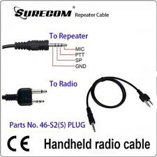 2pcs x Repeater Controller Cable for ICOM IC-T7H IC-W32A IC-F3 IC- F3S (117531)