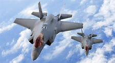 "F-35 LIGHTNING II MILITARY FIGHTER JET 24"" x 43""  LARGE WALL POSTER PRINT"