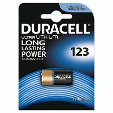 1x Duracell CR123A 3V ULTRA LITHIUM PHOTO CAMERA BATTERY DLCR123 CR17345