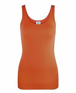 Ladies Strechy 100% Cotton Vest Slim Fit Plain T-Shirt Women Tank Tops Pack of 2
