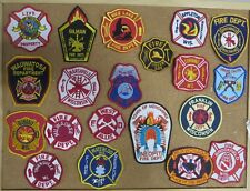 WISCONSIN FIRE/RESCUE DEPARTMENT PATCHES/BADGES!  LOT OF 20! SEE ITEM DESC