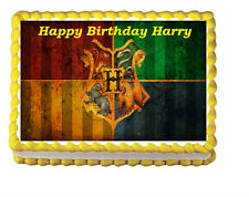 Harry Potter Hogwarts Birthday Party Icing Edible Cake Image Topper 1/4 sheet