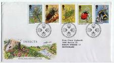 FDC T65 Great Britain 1985 5v Insects