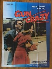 Gun Crazy Original Vintage Poster 1985 French Re-Release Promo Pin-up 1950 Ad