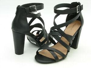 Torrid Black High Block Heel Ankle Strap Sandals U.S. Size 12 Wide ECU