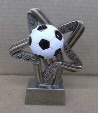 soccer gold star resin trophy SSR615