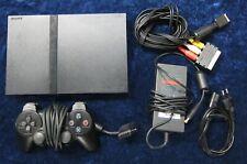 PS2 Playstation 2 Slim Line Spiele Konsole in Schwarz mit original Controller