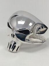 Sterling Silver 925 Biker Ring Skull Alien Heavy Gothic NEW Nt Scrap Antiqued