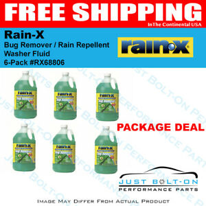 Rain-X With Bug Remover / Rain Repellent Washer Fluid  (6 PACK) RX68806