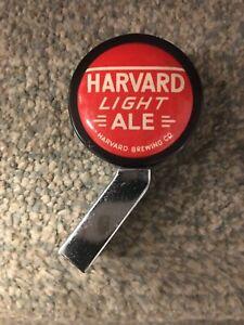 Vintage HARVARD LIGHT ALE Beer Ball Knob Tap Handle; Lowell, MA; Massachusetts