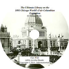 43 Books DVD, Ultimate Library on 1893 Chicago World's Fair Columbian Exposition