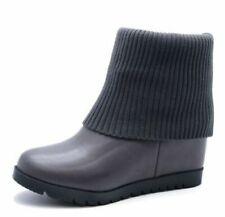 Calzado de mujer botines grises de sintético