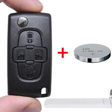 B chiave pieghevole CHASSIS + BATTERIA 4 tasti pezzo grezzo va2 Radio Citroen Peugeot