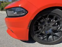 Charger Front & Rear Side Marker vinyl overlays With MOPAR Cut Out
