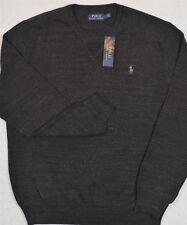 Polo Ralph Lauren Sweater Crewneck Pullover Black Heather M Medium NWT