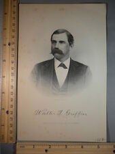 Rare Antique Orig VTG Walter T Griffin Homes of our Country Engraving Art Print