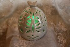 Color Changing Lighted Flameless Candle Ceramic Butterfly Globe Luminary