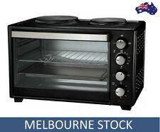 30L PORTABLE COOKTOP Bench Table Top Oven Twin Hot Plate Electric