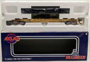 "Atlas 934-2 O Gauge Union Pacific 52'6"" Flat Car w/ Pipe Load #58790 NIB"