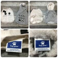 Top Paw Dog Clothes Sweatshirts Size Small Gray & Ivory (Loy Of 2)