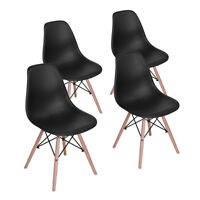 Homycasa 4PCS Eames Style Dining Side Chairs Armless Kitchen Chairs Home office