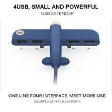 Creative Multi Port USB Hub Aircraft Plane Shape 4 Ports Powered USB2.0 Splitter