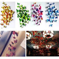 12pcs 3D Butterfly Sticker Art Design Decal Wall Stickers Home Decor Fashion