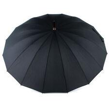 Doppler London 16 Rib Walking Umbrella - Black