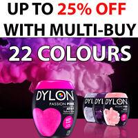 22 Colours Dylon Fabric & Clothes Dye Dylon Machine Dye Black Blue Gray Pink Red