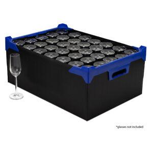Champagne Flute Crate - Glassware Storage Box - 35 Cells - Size H190 x D65mm