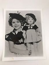VINTAGE BLACK & WHITE STUDIO PORTRAIT OF SHIRLEY TEMPLE & HER DOLL