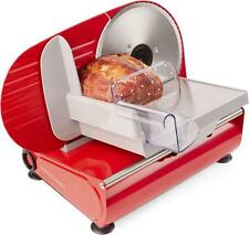 Andrew James Meat Slicer Electric Food Cutter Bread Compact Size Home Use Red