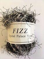 Crystal Palace Fizz Eyelash Yarn #9413 Newsprint - Black & White 50 gram 120 yds