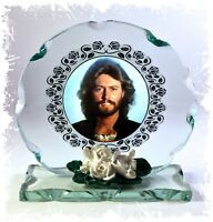 Barry Gibb, Bee Gees, Cut Glass Round Plaque Ltd Edition | Cellini-Plaques #