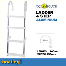 4 Step Aluminium Boat Ladder 1100mm length alloy boarding - Oceansouth