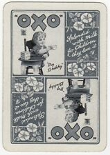 Playing Cards 1 Swap Card - Old Vintage Wide Advertising OXO Highchair Boy Child