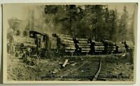 Antique RPPC Logging Train, Arrowlakes Lumber Co, Arrowhead, BC  No.318