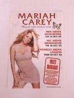 *MARIAH CAREY CHARMBRACELET WORLD TOUR 2003 UK DATES ORIGINAL PROMO FLYER ITEM*