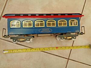 "Glassis Toy Trains  Bicentennial ""  Thomas Jefferson "" Passenger Car Brass & Tin"