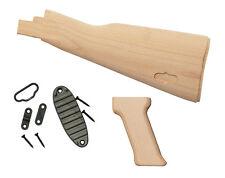 Unfinished Butt Stock & Pistol Grip (AMD Style) Beech Wood, US mfg, w/hardware